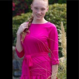NWT Dainty Jewells Hot Pink Swim Top SZ xxl